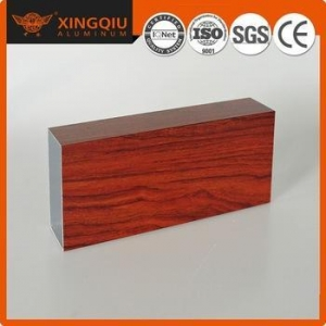 China Tig natural wood grain aluminium profiles for door on sale