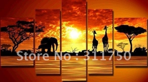 China african animals group art 2 by unknown artist painting:86282 on sale