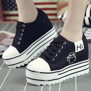 China Shoespie Plain Round Toe Canvas Shoes on sale