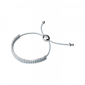 China WOMEN Sterling Silver & Pale Blue Pewter Cord Mini Friendship Bracelet on sale