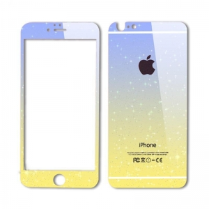 China Gradient Color Tempered Glass Screen Protector Film for iPhone 6 5 Colors Available on sale