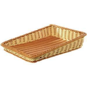 China 100% Handmade Large Tapered Plastic Bread Basket 60*44.5*12cm on sale