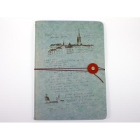 China Notebooks O-Check Sky String and Button Notebook on sale