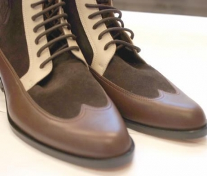 China Boots Men Luxury Handcrafted Lace Up Boots(Manchester) on sale