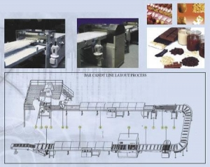 China FULLY AUTOMATIC PRODUCTION PROCESS FOR CREAMINESS CHOCOLATE, NOUGAT, CEREAL BARS, CANDY BARS, … on sale