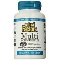 Natural Factors Multi Acidophilus with FOS, 90 Capsules,