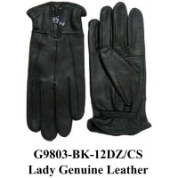 China Ladies Genuine Leather Gloves With Zipper Zip On G9803 on sale