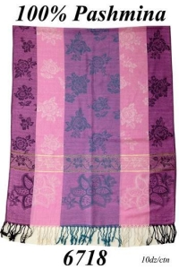 China 100% Pashmina Scarf Shawl Wrap Jaquard Weave, Assorted Colors, S6718 on sale