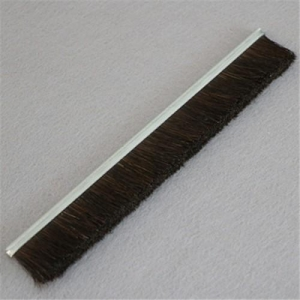 China Metal Channel Strip Brushes With Horse Hair Filaments on sale