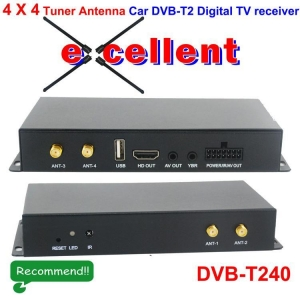China DVB-T240 4 x 4 Siano Tuner Diversity Antenna Car dvb-t2 digital receiver on sale