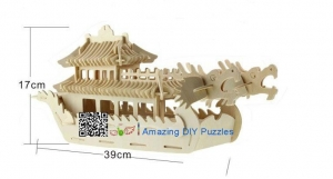 China DIY toy-3D puzzle-Wooden Dragon boat on sale