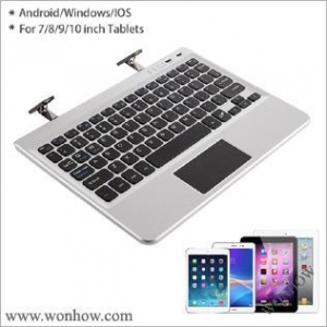 China Universal touchpad bluetooth keyboard fitted for 7/8/9 inch tablet with stand WHBK-038 on sale