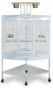 China Prevue Large Corner Cage - White on sale