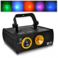 Laser Tools (63) Double Laser DMX Projector (Sound Activated, Cloud Background)