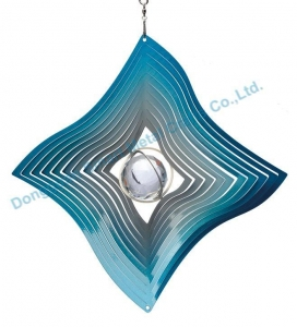 China Crystal diamond wind spinner Gazing ball wind spinner on sale