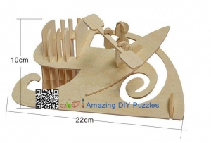 China DIY toy-3D puzzle-Wooden pencil vase on sale