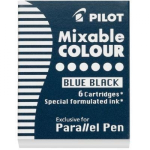China Pilot Parallel Pen Mixable Refill Ink 6-Pack Blue Black on sale
