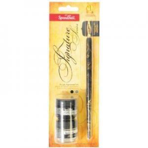 China Speedball Pen Holder, Nib, Ink & Pen Cleaner Set on sale