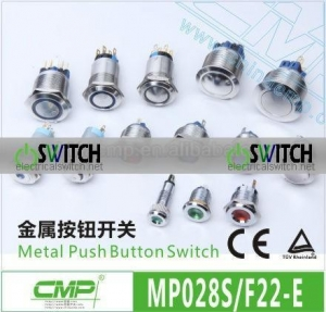 China CMP 28mm SPDT or DPDT Switch Push Button,LED Illuminated Switch on sale