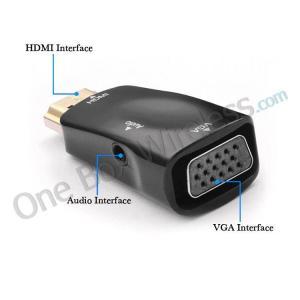 China 1080P USB HDMI Male to VGA Female TV AV Converter Adapter + Audio Output HDTV PC on sale