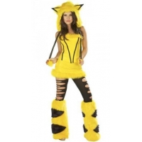China Hooded Pikachu Halloween Costume Yellow on sale