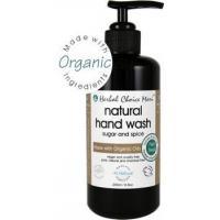 Herbal Choice Mari Liquid Hand Wash m/w Organic Sugar & Spice 200ml/ 6.8oz Glass Bottle w/ Pump