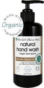 China Herbal Choice Mari Liquid Hand Wash m/w Organic Sugar & Spice 200ml/ 6.8oz Glass Bottle w/ Pump on sale