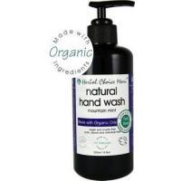 Herbal Choice Mari Liquid Hand Wash m/w Organic Mountain Mint 200ml/ 6.8oz Glass Bottle w/ Pump