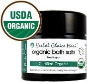 China Herbal Choice Mari Organic Bath Salts Health Spa for Your Body 125g / 4.4oz Glass Jar on sale