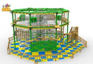China QL-B006 2016 popular attractive Kid's high rope course Indoor Adventure Playground Equipment on sale