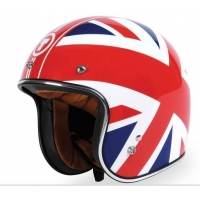 China New Motorcycle DOT Approved Helmet gloss union jack on sale
