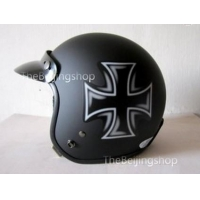 China Cross logo Open face Motorcycle Jet Helmet w/ Goggle on sale