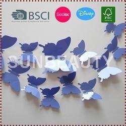 China 12pcs 3D Butterfly Wall Stickers on sale