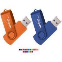Rotate 2-Tone Custom Flash Drive
