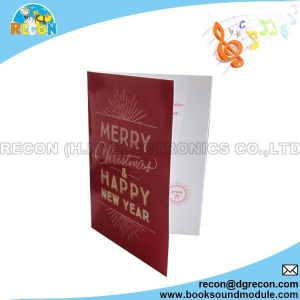 China GC-01 Pre-record music greeting card on sale
