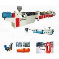 Corrugated Optic Duct (COD) Pipe Tube Extrusion Extruder Making Machine