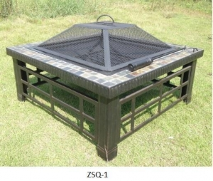 China Square Outdoor Backyard Patio Metal Firepit on sale