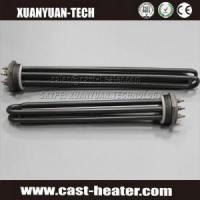 China Teflon coated flange immersion heater on sale