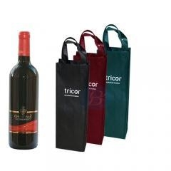 China Eco-friendly paper reusable wine bag on sale