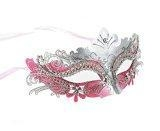 China Masquerade Mask Party Mask Rhinestone Metal Cosplay Half Face Venetian Mask on sale