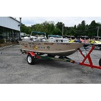 2005 Polar Kraft 1470wt Fishing Boat Johnson 25hp 4 Stroke starting bid$ 1,175