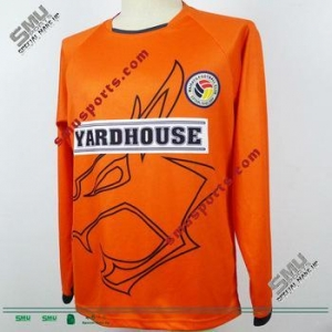 China 2013 Whales Home Orange long sleeve Offical Playing Soccer Jersey on sale
