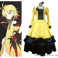 China Vocaloid Rin Kagamine Yellow Halloween Cosplay Costume on sale