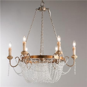 China Crystal Draped Iron Chandelier on sale