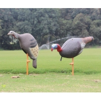 realistic collapsible full-body turkey hunting decoys