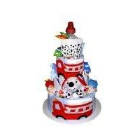 Fire Truck Diaper Cake for a great baby shower gift