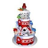 China Fire Truck Diaper Cake for a great baby shower gift on sale