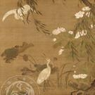 China Animals Egrets and Hibiscus in Autumn, L Ji, Ming Dynasty on sale