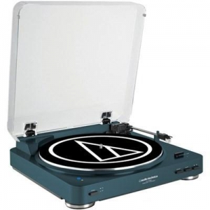 China Audio-Technica Fully Automatic Wireless Belt-Drive Stereo Turntable - Navy on sale