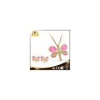 China Market Dragonfly High Quality Costume gold Jewelry Sets